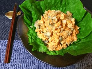 ふっくら抜群。包んで最高タラエッグの味噌生姜炒め煮(糖質6.9g)
