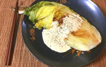 お菓子的甘さ。焦がし大蒜の低温白菜ジンジャーオイマヨ焼き(糖質5.6g)