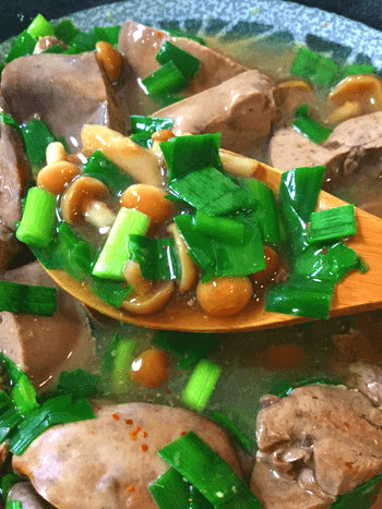 煮込み味噌生姜オイスターの山盛りスープレバニラ