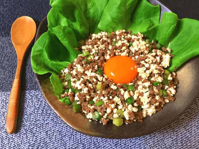 最短15分。がっつり満たされる絶品柚子胡椒オイスターそぼろ丼(糖質4.5g)
