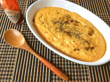 シャケ納豆のとろとろマヨ出汁グラタン