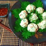 激プリ感謝。レンジ一撃辛子酢醤油胡椒の海老鶏焼売(糖質7.7g)