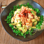 大口確率UP。濃厚アボカド豆腐の食べラーポン酢玉葱サラダ(糖質8.5g)