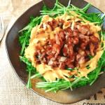 最高食べ易い。カリカリ豚こまオーロラカレークミン水菜サラダ(糖質8.5g)