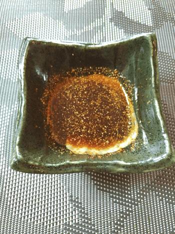 蜂蜜山椒醤油の満足油揚げ茗荷ロール