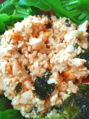 レンチンだけの海苔タラモ風サラダ