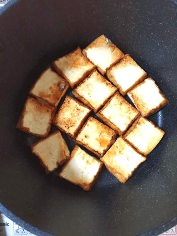 大葉白だし明太のふんわり厚揚げバター焼き