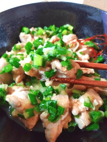低温鶏ももの絶品おろし味噌スイチリ葱小鉢