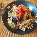 こっそり低カロに。絶品豚ナス蜂蜜の激生姜さっぱり煮(糖質9.9g)