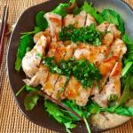 美味豚食べよう。レモンバター醤油の生バジルとんてき(糖質7.2g)