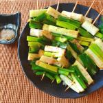 美味しい主役級。即消える蜂蜜山椒醤油の甘トロネギ串焼き(糖質6.2g)