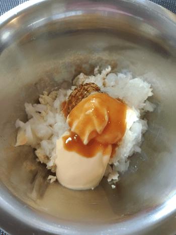 から揚げ鶏と絶品豆腐味噌マスタードタルタル