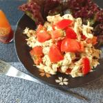 最高朝ご飯。絶品ツナチキンの和風マスタードトマトサラダ(糖質6.8g)