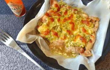 熱々激うま。まるごと味噌葱チーズマヨチキン焼き(糖質5.2g)