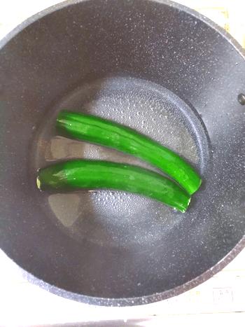 青臭さ激減の葱ガーリック山椒叩き豆腐胡瓜