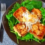一丁ぺろり事件。胡麻バターガーリックの和風味噌豆腐ステーキ(糖質5.9g)