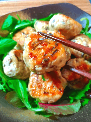 猛烈美味しい塩昆布チーズ鯖チキン団子