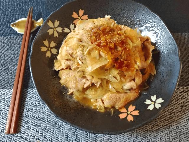 広がる本格中華。ビリリと旨い山椒香味焼き豚オニオン(糖質7.0g)