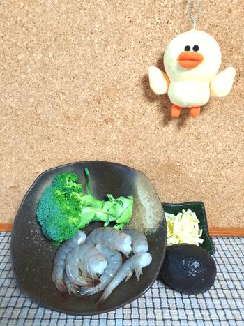驚きテイストの海老チーアボカド焼きボール