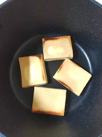 ふんわり高野豆腐のガーリック棒棒鶏煮