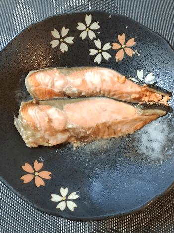 鮭マヨ大葉の山盛り香味だし厚揚げ