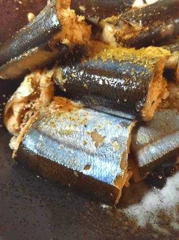 シンプル最高な酒蒸しさんまのスダチ塩煮