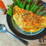 栄養具沢山。人参シリシリのクミンチーズポークオムレツ(糖質3.5g)