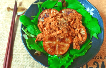 甘さおでん級。和風醤油バルサミコの絶品甘ツナ大根揚げ(糖質5.9g)