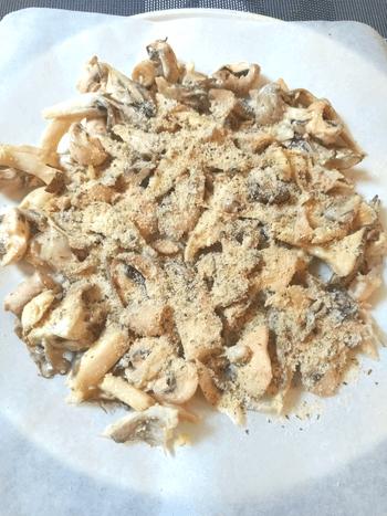 バジルクミン粉チーズ茸祭り