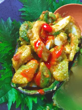 栗食感のマヨコチジャンアボ焼きオーブン(糖質3.4g)