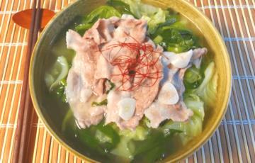 裏切らぬ旨さ。キャベツ激甘の低カロ柚子出汁豚バラ鍋(糖質8.9g)