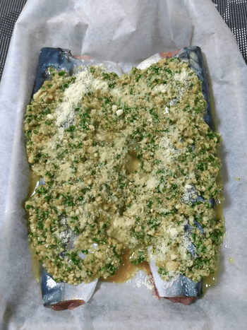 バターガーリックのエスカルゴ風鯖オーブン