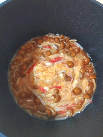 国際カニカマDAY。白だしケチャップの濃厚餡かけ蟹豆腐(糖質7.8g)