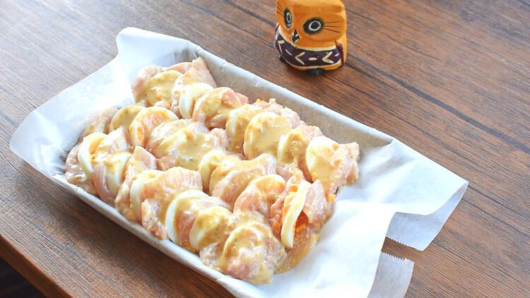 お帰り最強タッグ!鶏胸卵の柚子胡椒マヨペッパーオーブン(糖質3.7g)