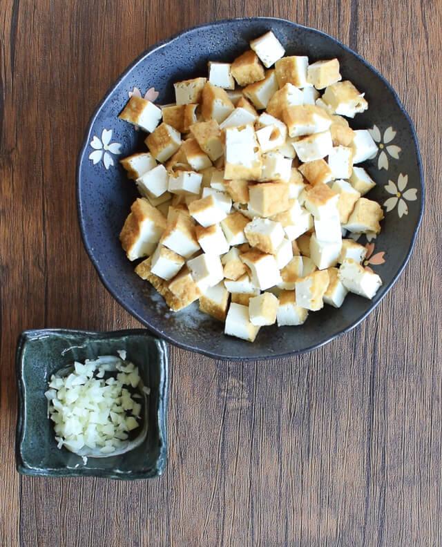 お粥の助っ人。本格トロリ厚揚げ大蒜タマゴ中華スープ(糖質5.7g)