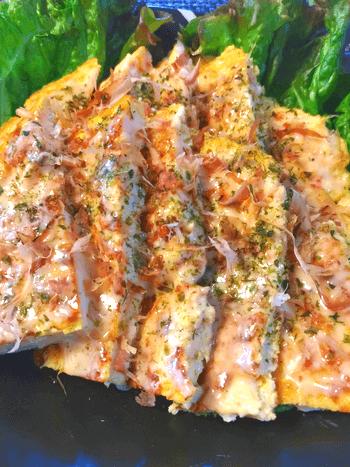 重ねてガブリ。ふわり食べ応えの豆腐スイチリ海老マヨ焼き(糖質3.5g)