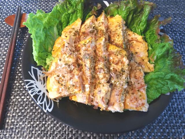 重ねてガブリ。ふわり食べ応えの豆腐スイチリ海老マヨ焼き(糖質3.5)
