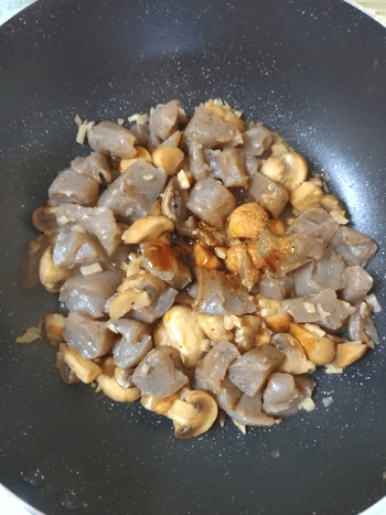 低カロ底力。味わい凝縮ガーリックマッシュ蒟蒻チーズ(糖質5.0g)
