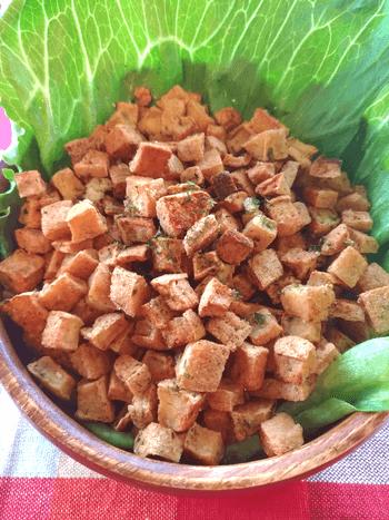 極上かんたん。バター大蒜のり塩のサクサク厚揚げチップス(糖質0.6g)