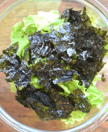 包丁無用。秘伝味タッグの海苔ポンマスタード豆腐サラダ(糖質3.6g)