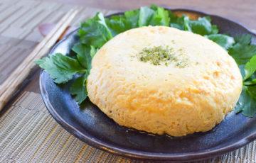 ALL90秒。レンチン3発白だし豆腐のチーズ出し巻き卵(糖質3.9g)