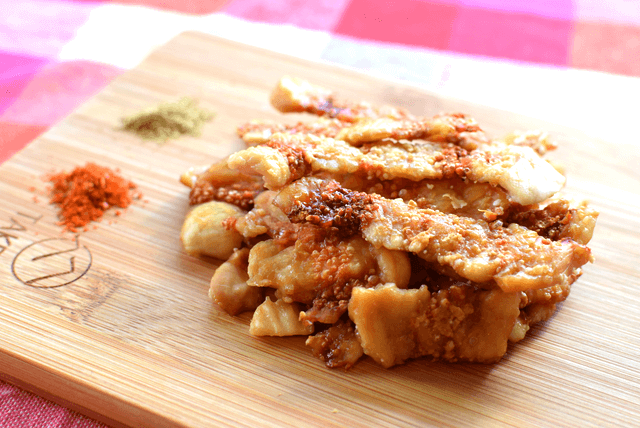 ラクチン和風醤油。パリサク実現の鶏むねチキンチーズ醤油煎餅(糖質0.3g)