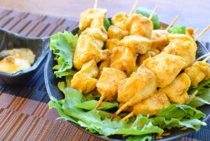 モモ肉失業。絶品塩麹マヨクミンのオーブン鶏胸焼き鳥(糖質7.1g)