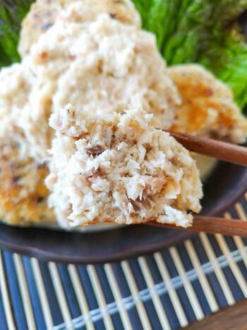 有効成分◎。絶品梅マヨおろしの極上チキン鯖バーグ(糖質7.2g)