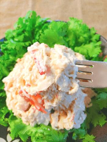 別格デパチカ感。超絶濃厚もっちりスイチリ蟹サラダ(糖質7.0g)