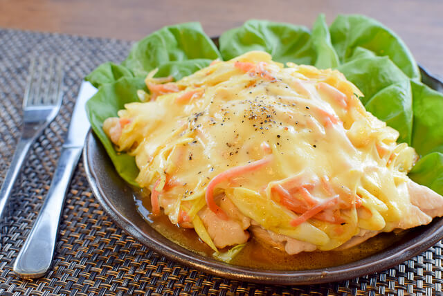 未知なるタッグ。山盛り葱紅生姜の絶品カレーチーズ胸肉ピザ(糖質1.5g)