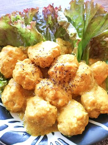 飲料並の柔らかさ。ささみ生姜の濃厚味噌カレー豆乳団子(糖質8.9g)
