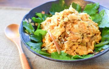 調味料1こ。3分完成の絶品ザーサイオイスター卵サラダ(糖質3.7g)