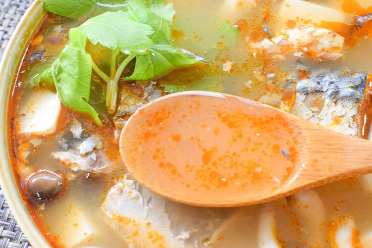 専用ペースト不要!即放置で絶品の薫るトム鯖ヤムクン(糖質6.3g)