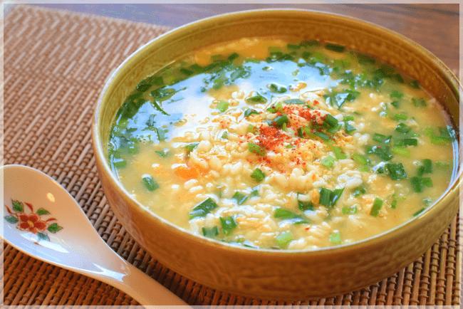 TRICE絶品アレンジ⓵ 鶏釜めし速攻白出汁ニラ雑炊